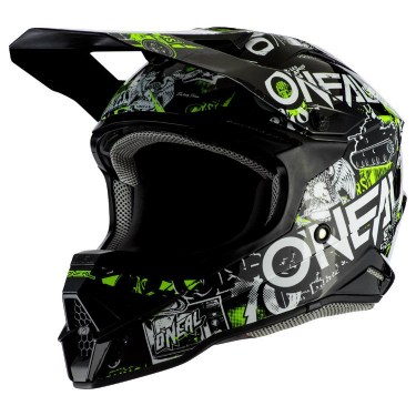 ONeal Каска за Мотокрос 3-Series Attack 2.0 (Black/Yellow)
