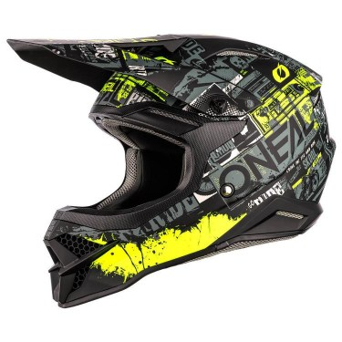 O'Neal Мотокрос каска 3 Series Ride (Black/Neon Yellow)