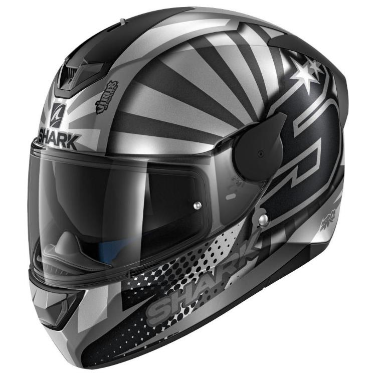 Shark Каска за Мотор D-Skwal 2 Replica Zarco (Black/Grey)