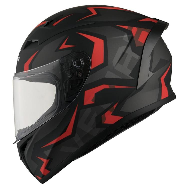 Vemar Каска за Мотор Ghibli Warrior Matt (Black/Red)